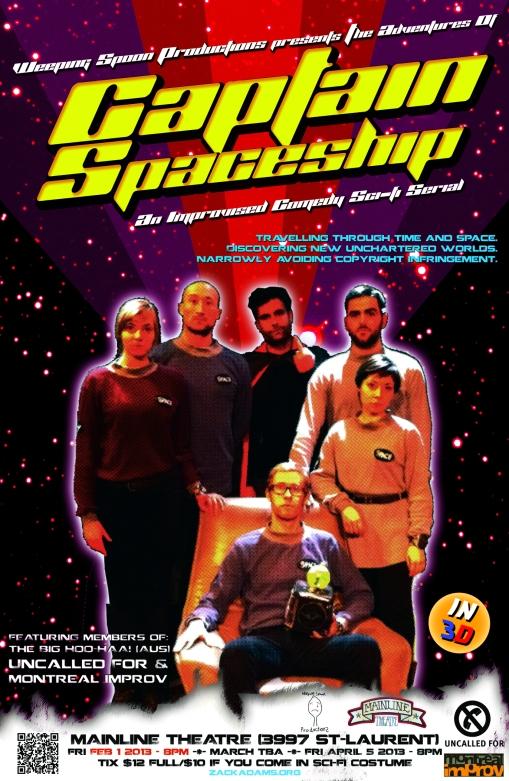 CAPTAIN SPACESHIP POSTER 4 smaller